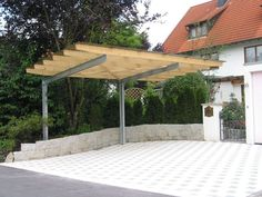 Cantilever Carports for Bungalows Patio Cover – Home Ideas for your home. Patio Pergola, Pergola Carport, Pergola Plans, Pergola Ideas, Carport Plans, Pergola Kits, Patio Ideas, Cantilever Carport, 2 Car Carport