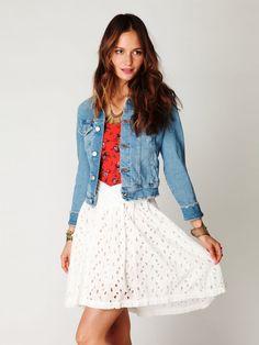 New Romantics Eyelet Field Day Skirt