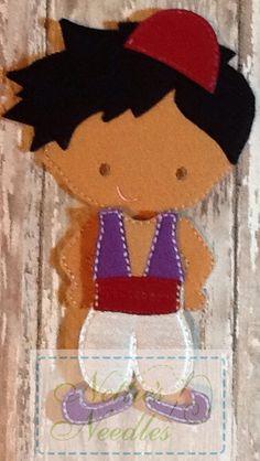 A Whole New World Aladdin Felt Doll Outfit by NettiesNeedlesToo, $8.00