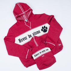 There's love you understand but never be told. check out our new mommy and me serials. Best Friend Hoodies, Cool Slogans, Basic Hoodie, We Are Best Friends, Dog Hoodie, Unique Animals, Burgundy Color, Dog Mom