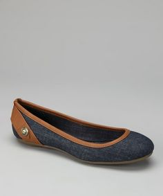Another great find on #zulily! Blue Denim Abagail Ballet Flat #zulilyfinds