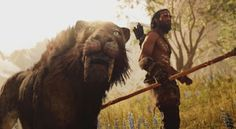 """Far Cry Primal is close to release and some of you might have some questions. Questions like """"how close is Far Cry Primal to the real stone age? Far Cry Primal, Far Cry 4, Mundo Dos Games, Prehistoric Creatures, Stone Age, Jurassic World, Xbox One, Wallpaper Backgrounds, Fantasy Art"""