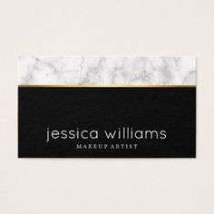 #hairstylist #businesscards - #Modern Elegant Marble And Faux Gold Stripe Business Card