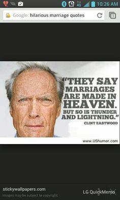 I love Clint Eastwood!