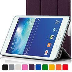 ForeFront Cases� Neue Leder H�lle / Tasche / Case / Cover f�r Samsung Galaxy Tab 3 Lite 7.0 T110 - Rundum-Ger�teschutz und intelligente Auto-Sleep-Wake-Funktion mit 3-JAHRES-GARANTIE VON FOREFRONT CASES