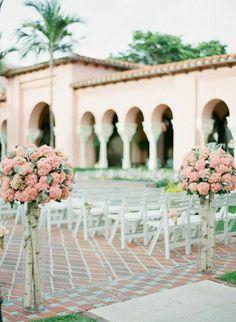 Chic Florida Wedding at Boca Raton Resort and Club from Justin DeMutiis Photography - wedding ceremony idea