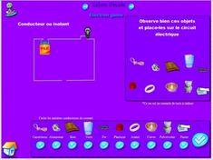 Animations et jeux sur l'électricité pour l'école primaire.