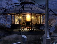 Hi-res shot of Tomahna from Myst IV: Revelation Adventure Games, Round House, Environment Design, Game Design, Daydream, Great Rooms, Game Art, Fantasy Art, Concept Art