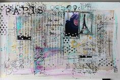 never in paris - watercolor - Art Jornaling