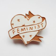 feminist illustrated brooch by kate rowland illustration | notonthehighstreet.com