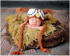 Fire Owl Hat Photo Prop Size Newborn | eBay