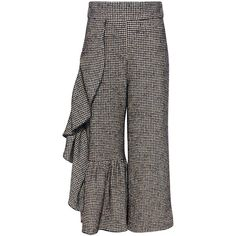 Rachel Comey - Houndstooth Revel Wool Pants (6.034.200 IDR) ❤ liked on Polyvore featuring pants, capris, high rise trousers, cropped pants, rachel comey pants, wool pants and ruched pants