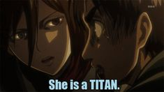 Animation of Annie's Laugh gone Wrong   Attack on Titan / Shingeki No Kyojin   Know Your Meme