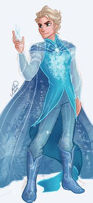 Elsa - Genderbender Daaang this guy is actually really cute...