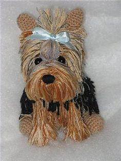 FREE CROCHET PATTERN... Yorkie pattern by Natalia Olshinoy... NOTE... this pattern is translated to English very badly but there is a link in the comment section to a video tutorial and translation into English.