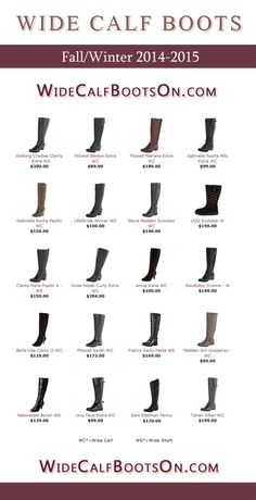 Fall Winter 2014-2015 Wide Calf Boots Line Up!  Wide shaft, extra wide calf, plus size and wide width boots from the most wanted brands.  Featured styles are Naturalizer Johanna, David Tate Branson, Type Z Martiz, Rsvp Rider,  Tahari Killan, Rose Petals Curly Extra, Fitzwell Sarah, UGG Rockstar, Steve Madden Syniclew,  Gabriella Rocha Pacific, LifeStride Winner, Fitzwell Benton Extra, Franco Sarto Petite #widecalfboots #plussize #boots #2014
