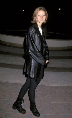 "By 1993, Gwyneth had appeared in a few movies, and hit the premiere of her 1993 flick ""Flesh and Bone,"" which starred Meg Ryan and Dennis Quaid, in true '90s fashion – wearing leather, leggings and Doc Martens. (9/26/1993)"