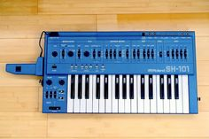 MATRIXSYNTH: Blue Roland Sh-101 w/ MG-1 Modulation Grip SN 3622...