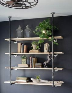 DIY Wall-Mounted Shelving Systems Easy to Install | One of my favorite small space hacks is swapping your bookcases for wall-mounted shelving. We've created roundups of wall mounted shelving systems before, but for those of you who are especially crafty there are also plenty of DIY options. Here are eight different DIY ways to turn a blank wall into a floating shelf storage solution.