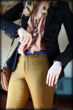 Outfit Of The Day: Shades of Ochre, Blue, Black & Blush   t h e (c h l o e) c o n s p i r a c y : fashion + life + style