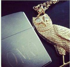 OvO owl chain OMO lighter