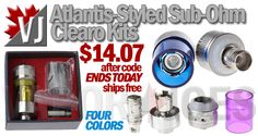 TRY IT! – Atlantis Styled Sub-Ohm Kits, 4 Colors, Spare Tank! – $14.07