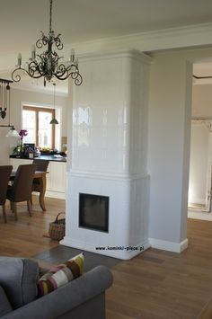 kominek kaflowy projekt i wykonanie Zduni Ekspresja Ognia Home Fireplace, Fireplaces, Old Houses, Sweet Home, Indoor, Living Room, Modern, Design, Home Decor