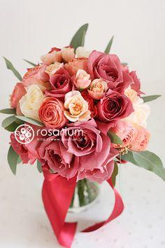 No.f0251・ウエディングブーケ(生花)   rosarium