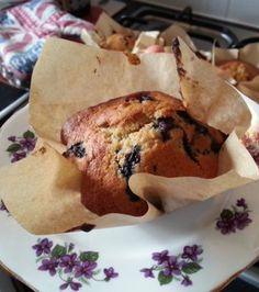 Easy Moist Banana Blueberry Muffins