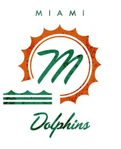 Miami Dolphins   We Wish These Awesome NFL Logos Were Real