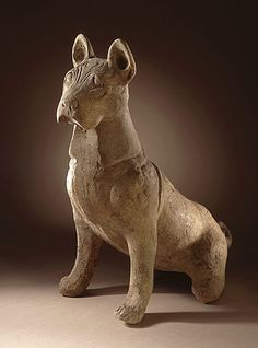 Funerary Sculpture of a Dog, China (Sichuan), 25-220 AD. The Los Angeles County Museum of Art. :'(
