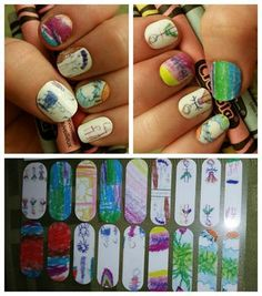 How stinking cute is this?! This Mom turned her kids artwork into custom nail wraps using Jamberry's Nail Art Studio. Pretty awesome! http://birdnerd.jamberrynails.net/shop