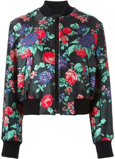 Floral jacquard bomber jacket by MSGM on ShopStyle.