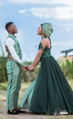 A Gorgeous Wedding With The Bride In Green Shweshwe - African Wedding Theme, African Print Wedding Dress, African Wedding Attire, Pakistani Wedding Dresses, African Attire, Wedding Hijab, Traditional Wedding Attire, African Traditional Wedding, Traditional Weddings