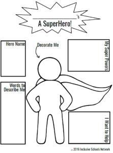 create your own superhero template …  asf activity ideas