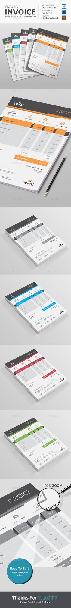 Invoice Excel Invoice design, Proposal templates and Portfolio - how to do an invoice on excel