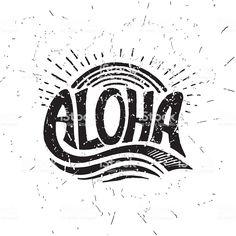 Vector calligraphy illustration royalty-free aloha surfing lettering vector calligraphy illustration stock vector art & more images of aloha - single word Roxy Surf, Surf Mar, Aloha Surf, Surf Vintage, Vintage Hawaiian, Surf Table, Surf Drawing, Surf Logo, Hawaiianisches Tattoo