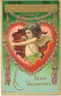 To My Valentine Vintage Cupid Post Card - Valentine's Day