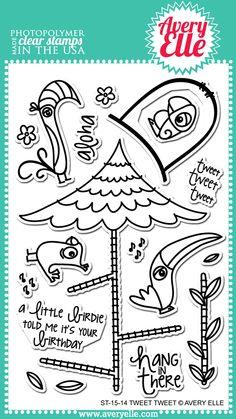 Avery Elle  - Tweet Tweet Clear Stamps, $15.00 (http://www.averyelle.com/tweet-tweet-clear-stamps/)