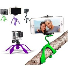 The Gekkopod is the ultimate mount for your smartphone or GoPro. Its flexible arms hold onto just about anything and makes the perfect travel companion. Handheld Camera, Phone Tripod, Point And Shoot Camera, All Smartphones, Best Smartphone, Selfie Stick, Taking Pictures, Flexibility, Iphone