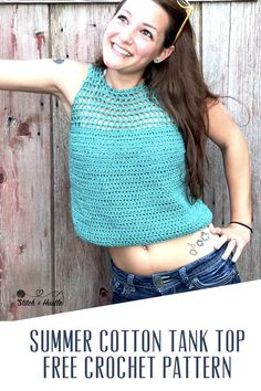 FREE #crochet tank top pattern is going to be your summer fave and you will want it in every color. It is designed specifically for beginners who may not be very familiar with making garments. Disclaimer: This post includes affiliate links. Read full blog disclosure here. Works