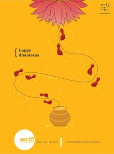 Happy Dhanteras! #Festivecheers #luxmipuja #wealth #prosperity #rangoli #family #wishes #graphic #design #Seriff