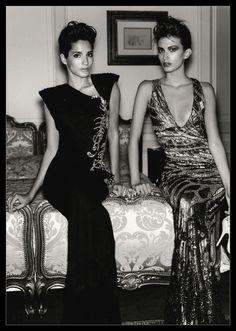 Astrid Munoz & Rhea Durham Wear Valentino Haute Couture Fall-Winter 1997-1998