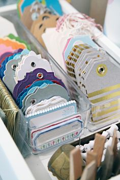 We love these colorful tags for the holiday gift wrapping season.
