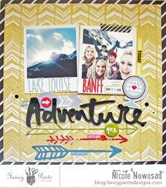 Adventure scrapbook layout by Nicole Nowosad for @fancypantsdsgns