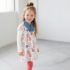 Ukiuki Kimono Neck Dress | Ukiuki means cheerful in Japanese. She'll be all smiles in this dress with its pretty print, perfect for easy fall outfitting.