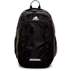 adidas Excel III Backpack (150 PLN) ❤ liked on Polyvore featuring bags, backpacks, black, water bottle backpack, laptop backpacks, zip top bag, laptop rucksack and strap backpack