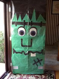 Frankenstein door decoration & Halloween Door Decoration   School Odds and Ends   Pinterest ...