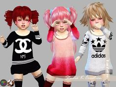 Giruto12 long sweater toddler version at Studio K-Creation • Sims 4 Updates