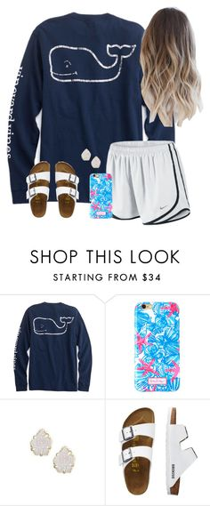 """out & about"" by annagraces ❤ liked on Polyvore featuring NIKE, Lilly Pulitzer, Kendra Scott and TravelSmith"